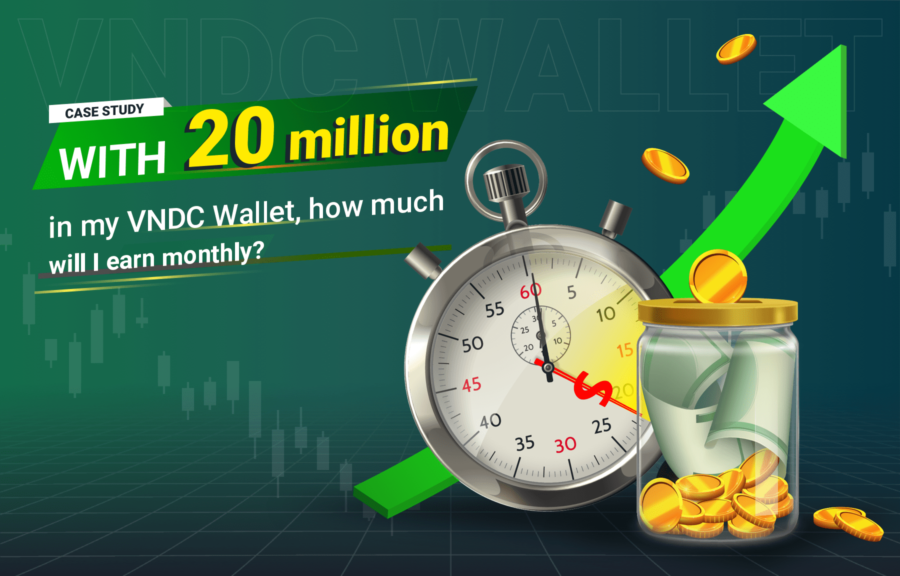 Case study: With 20 million VND in my VNDC Wallet, what is my monthly income?