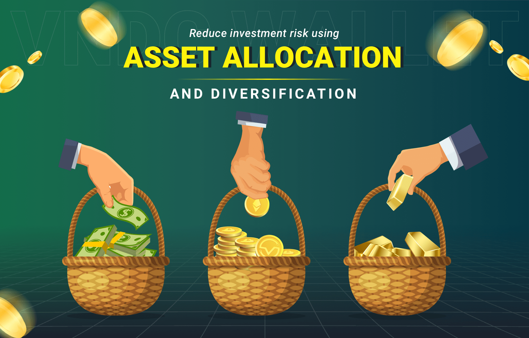 Reduce investment risk using asset allocation and diversification