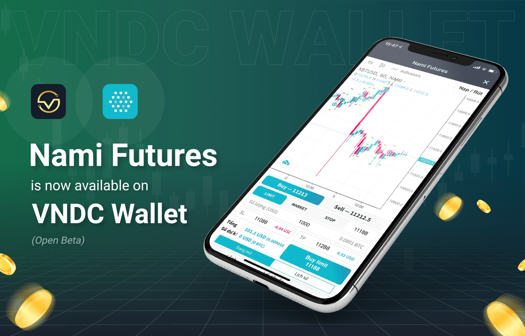 Nami Futures now available on VNDC Wallet (Open Beta)