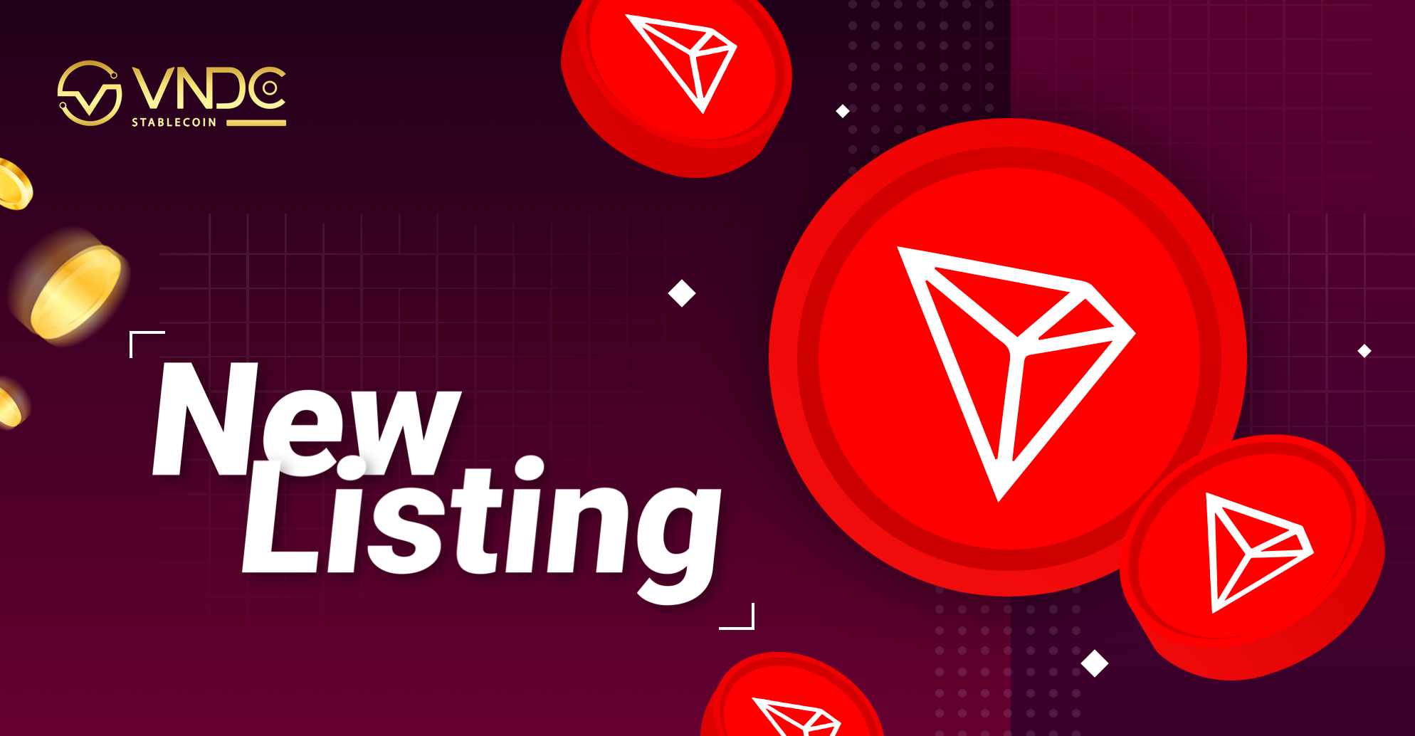TRON (TRX) officially listed on VNDC Wallet