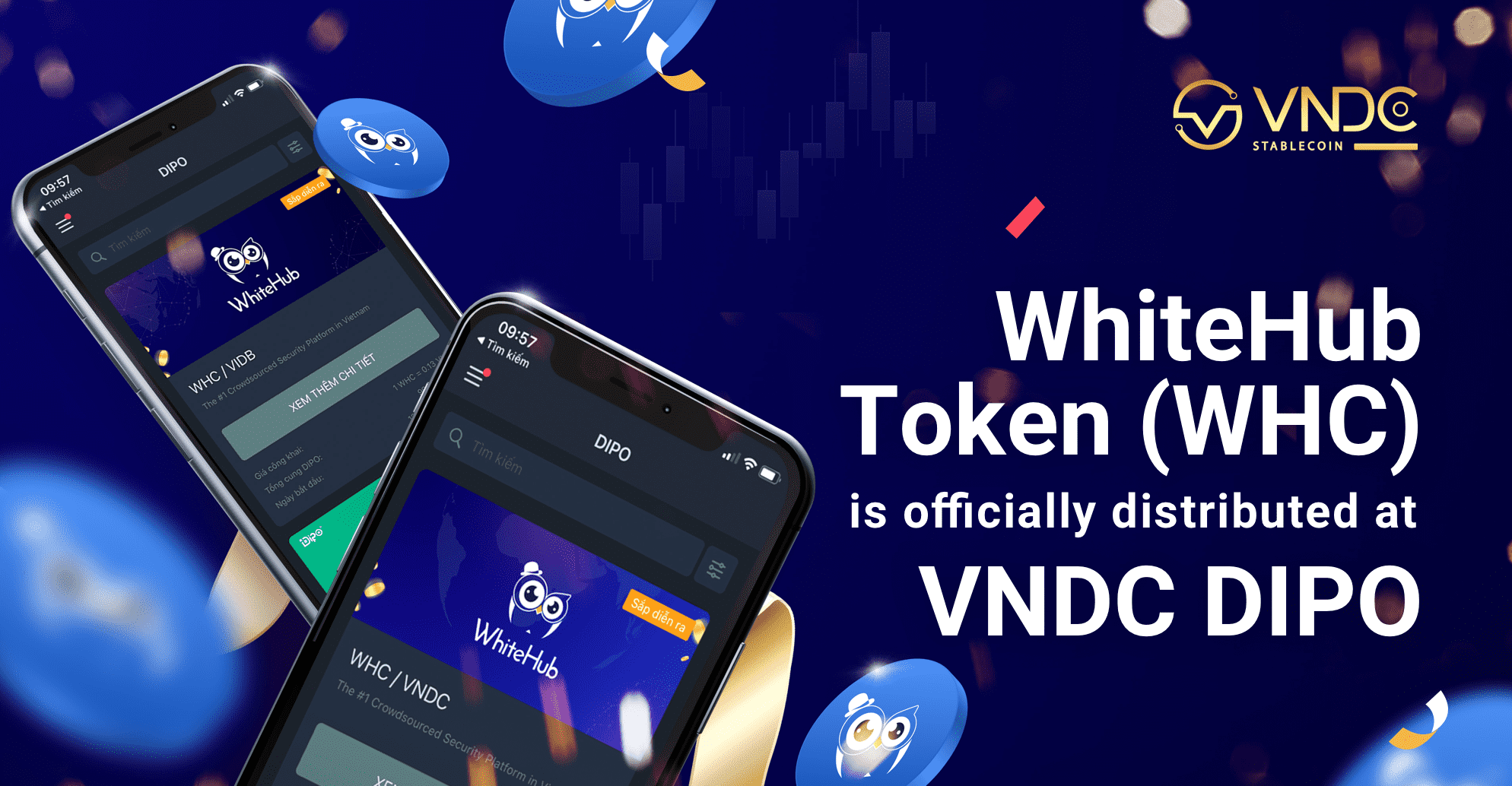 WhiteHub Token (WHC) is officially distributed at VNDC DIPO