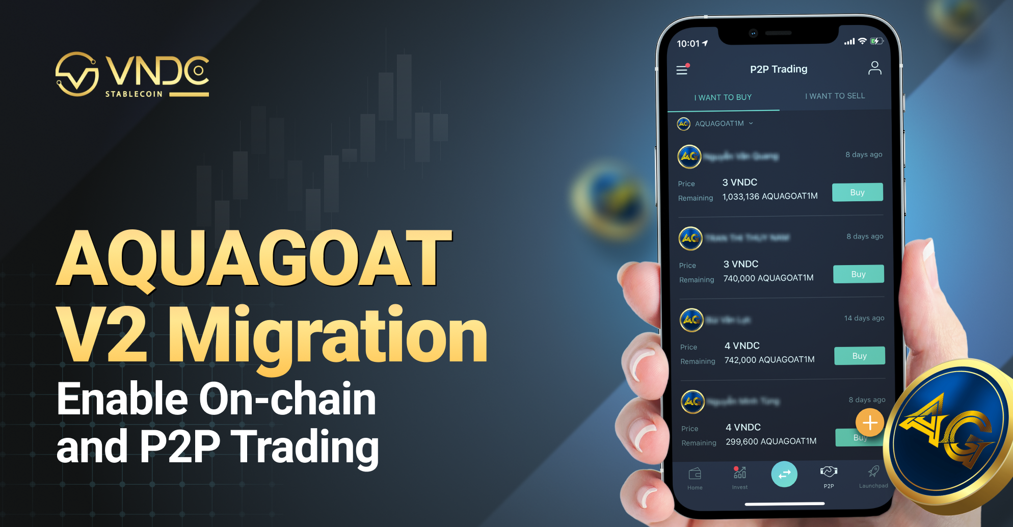 AQUAGOAT V2 Migration, Enable On-chain and P2P trading