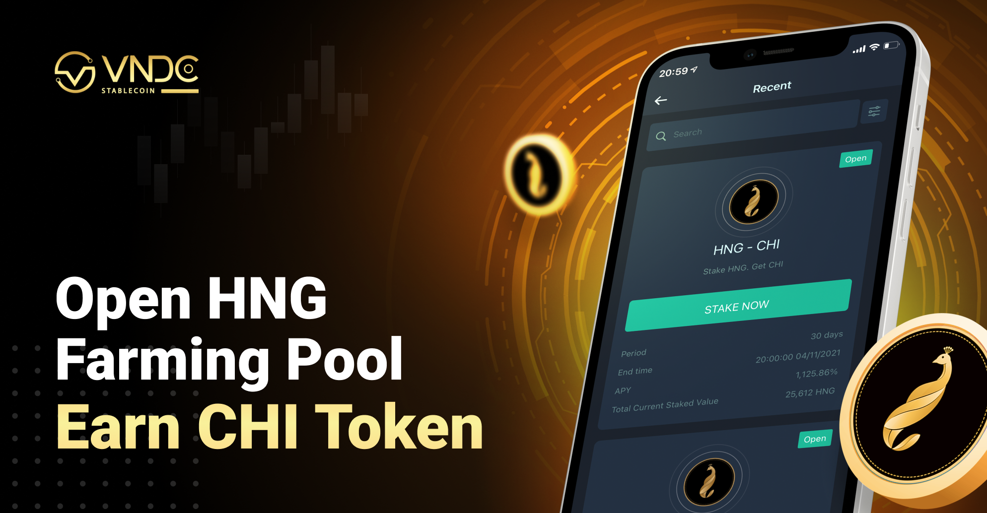 Open Farming Pool for HNG, Earn CHI Token