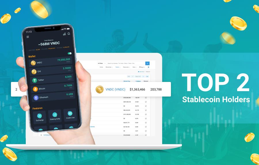 VNDC đứng thứ 2 trên thế giới về số lượng người nắm giữ Stablecoin