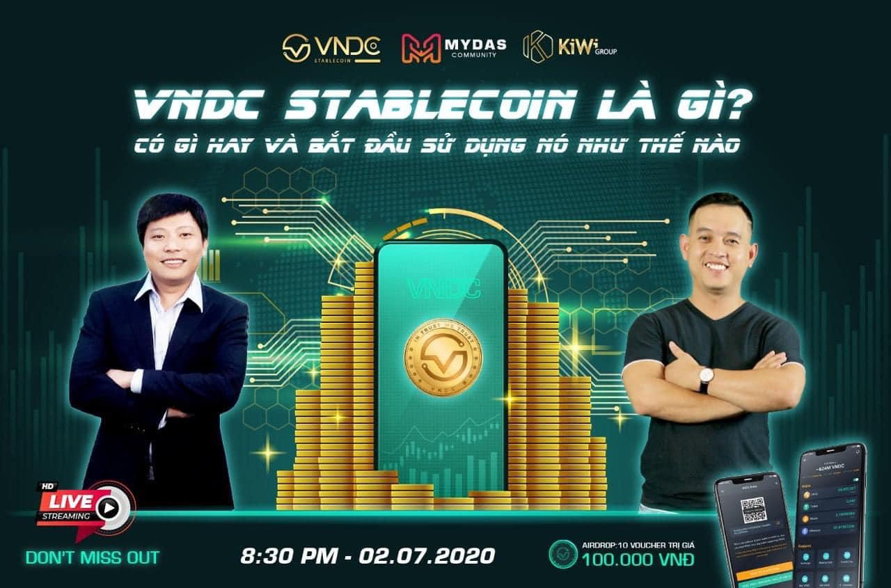 Nhà sáng lập VNDC livestream cùng Crypto Summit 2020