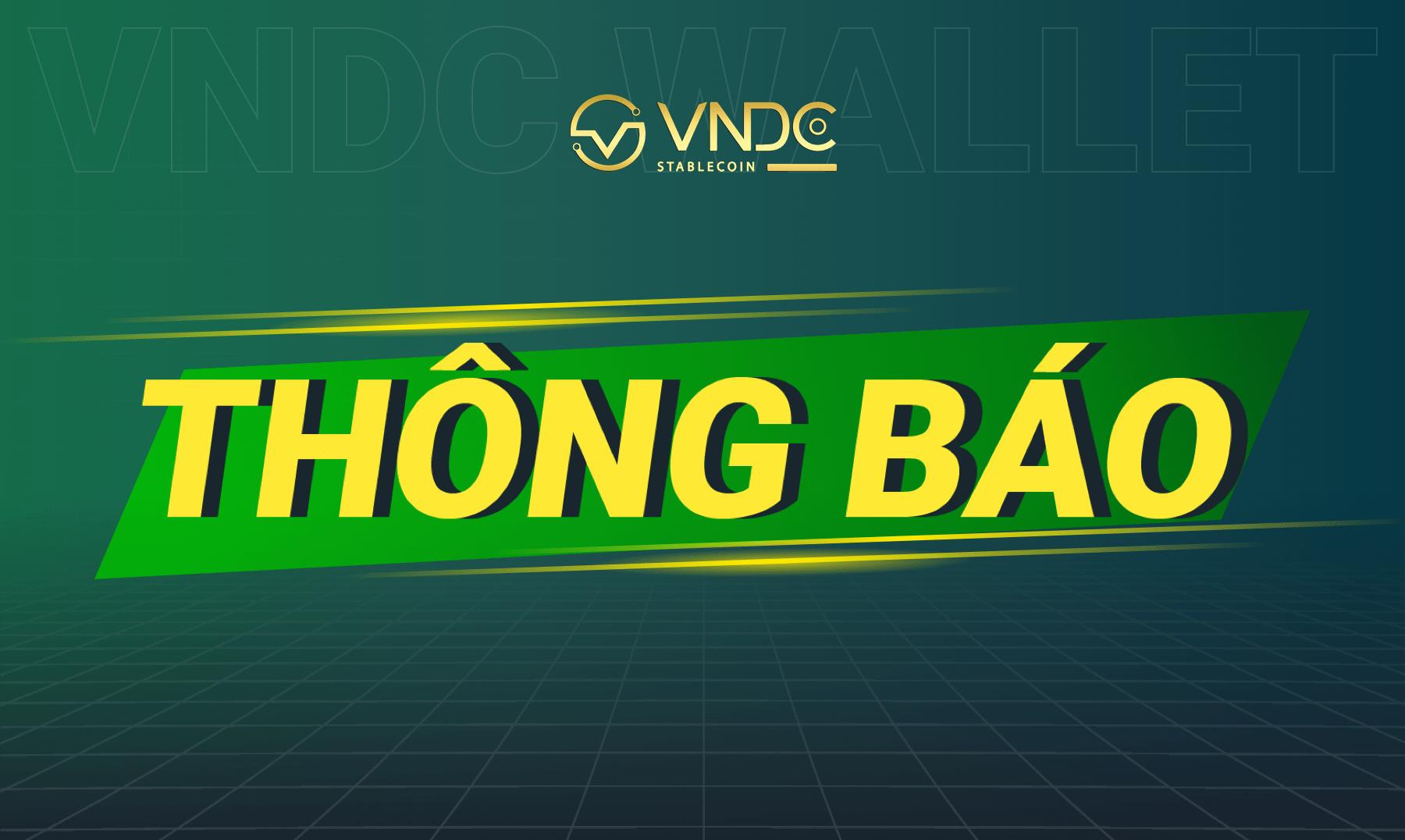 Thông báo: Thay đổi cơ chế Mua VNDC (Buy VNDC)