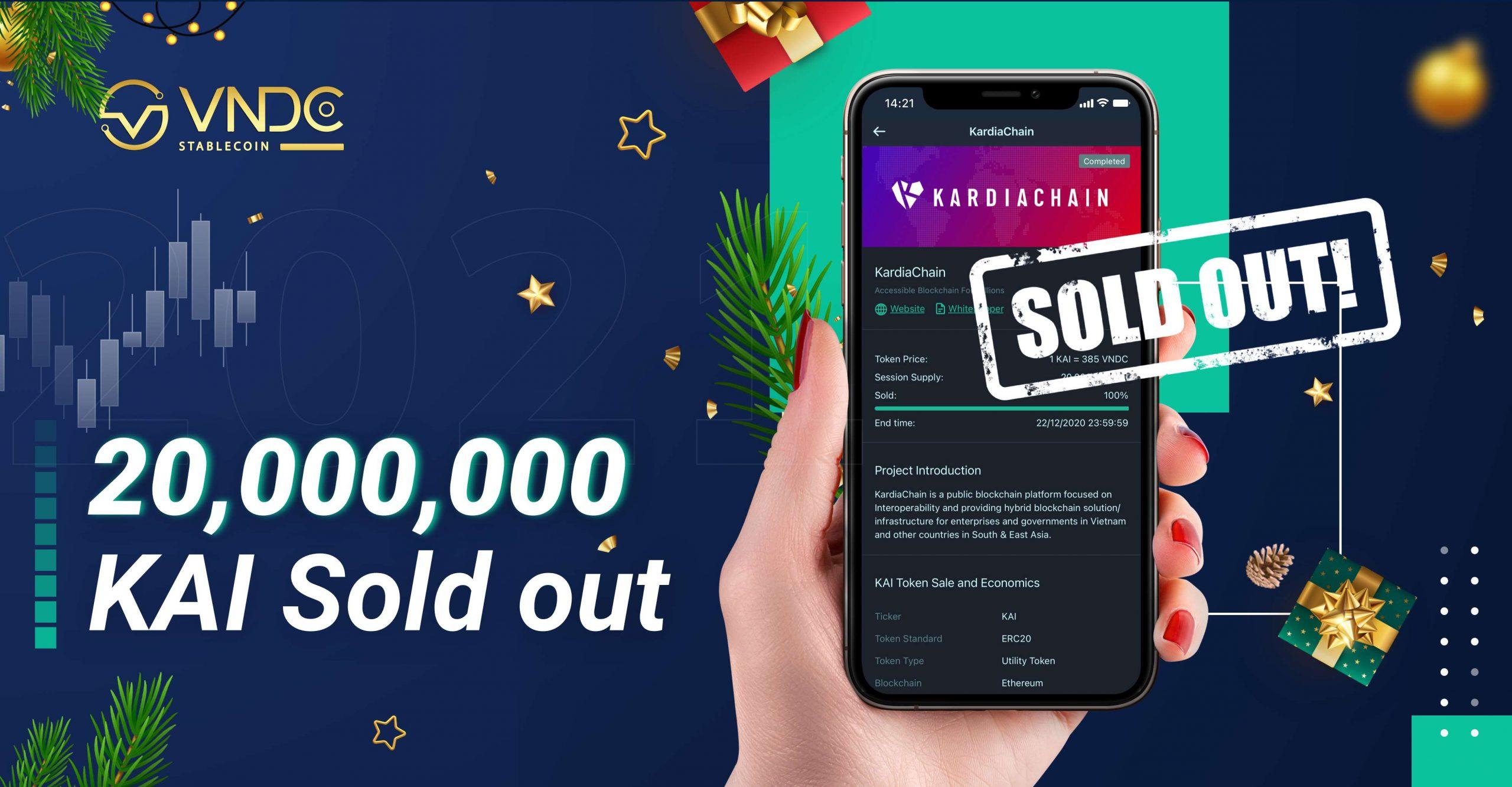 20,000,000 KAI đã phân phối hết sau 2 ngày mở bán trên VNDC DIPO