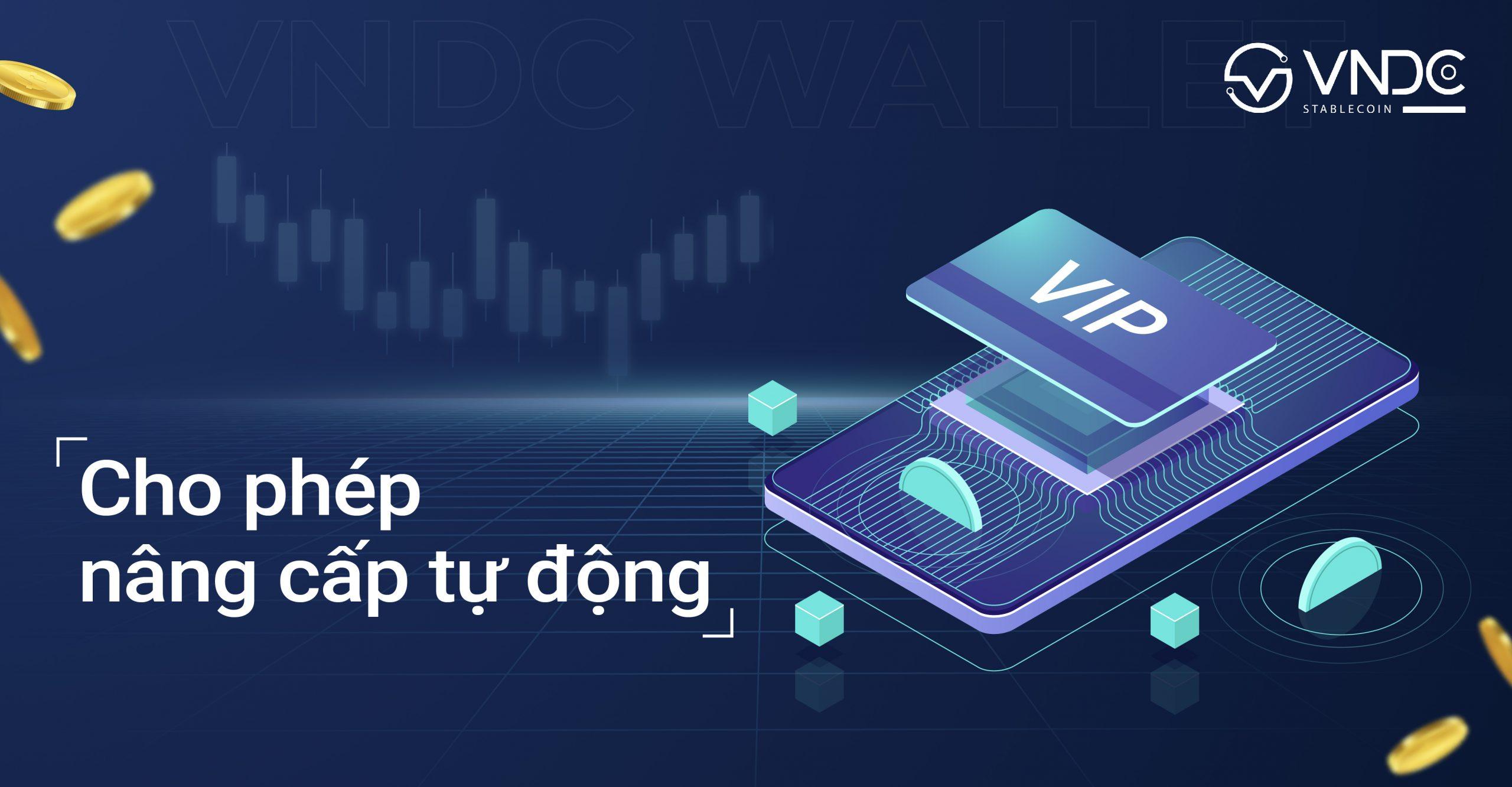 Nâng cấp tài khoản và đăng ký đối tác kinh doanh tự động ngay trên VNDC Wallet