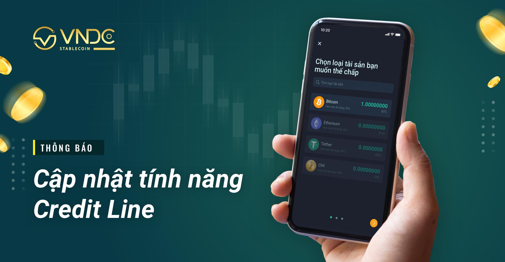 Thông báo: Cập nhật tính năng Credit Line