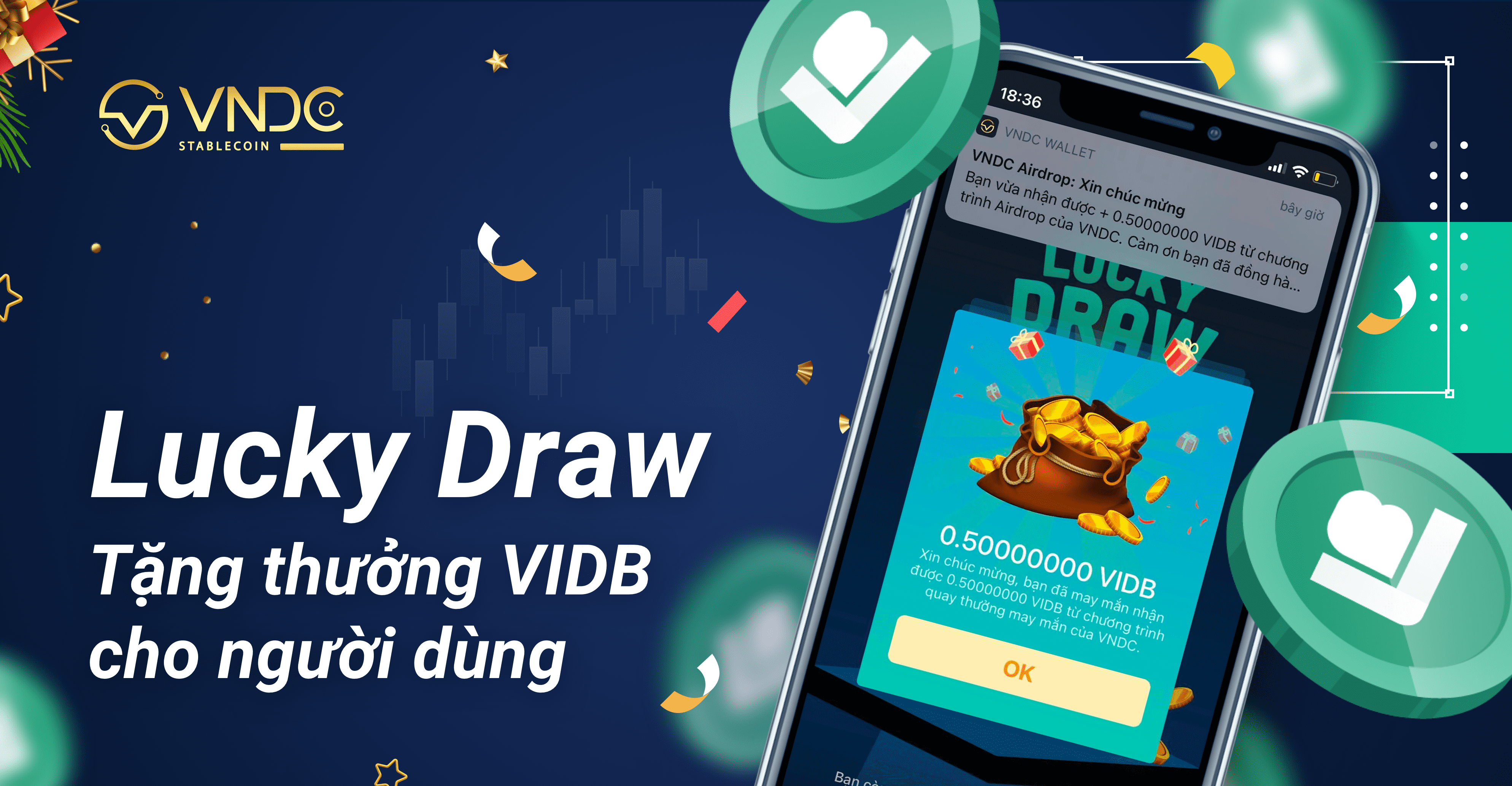 Lucky Draw chào năm mới: Tặng thưởng 500,000 VIDB cho người dùng