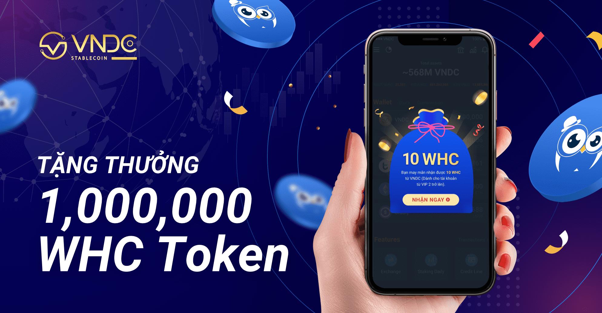 Tặng thưởng 1,000,000 WHC Token cho toàn bộ người dùng