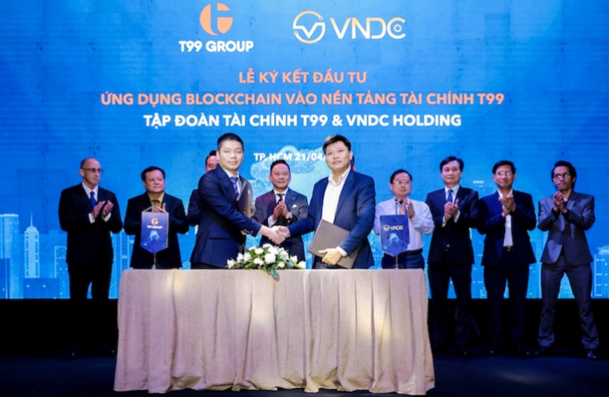 VNDC hợp tác cùng Tập đoàn tài chính T99 triển khai dịch vụ cầm cố tài sản số