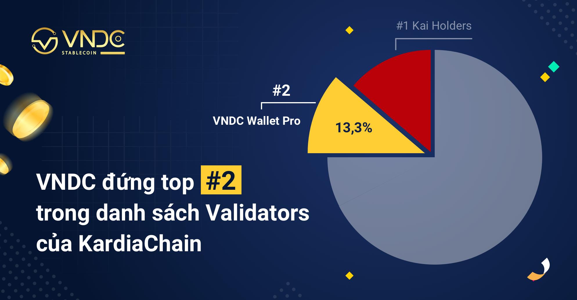 VNDC đứng top #2 trong danh sách Validators của KardiaChain