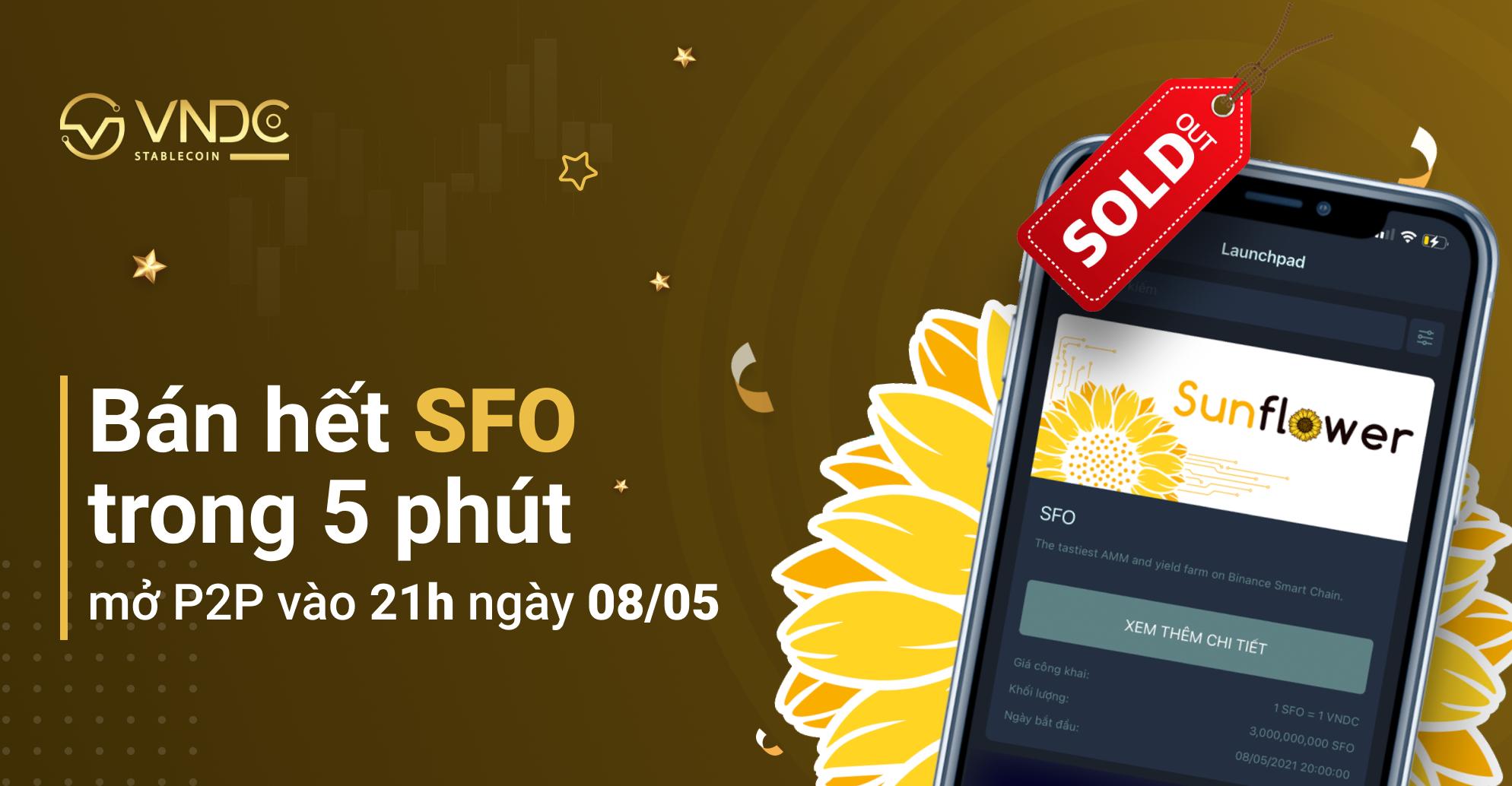 Hoàn tất phân phối 3 tỷ SFO trong 5 phút, mở giao dịch P2P từ 21:00 hôm nay (08/05)