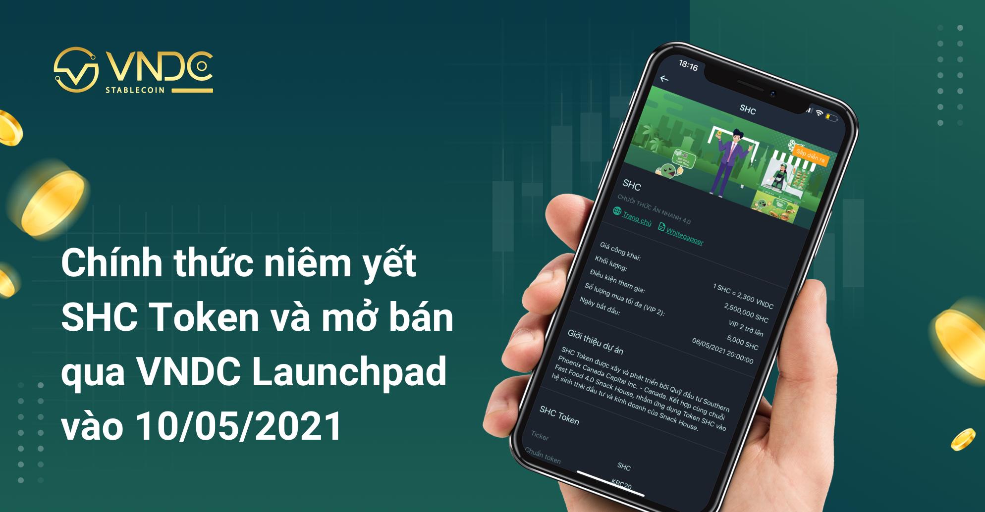 Chính thức niêm yết SHC Token và mở bán qua VNDC Launchpad vào 10/05/2021