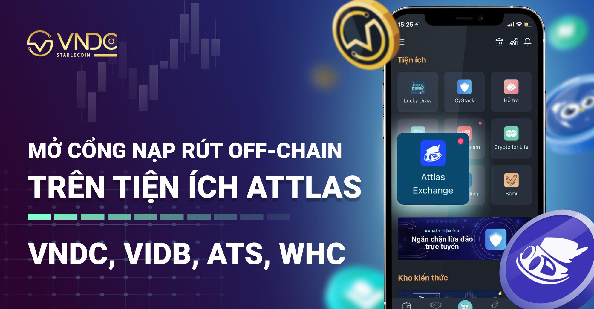 Mở cổng nạp rút Off-chain qua tiện ích Attlas Exchange