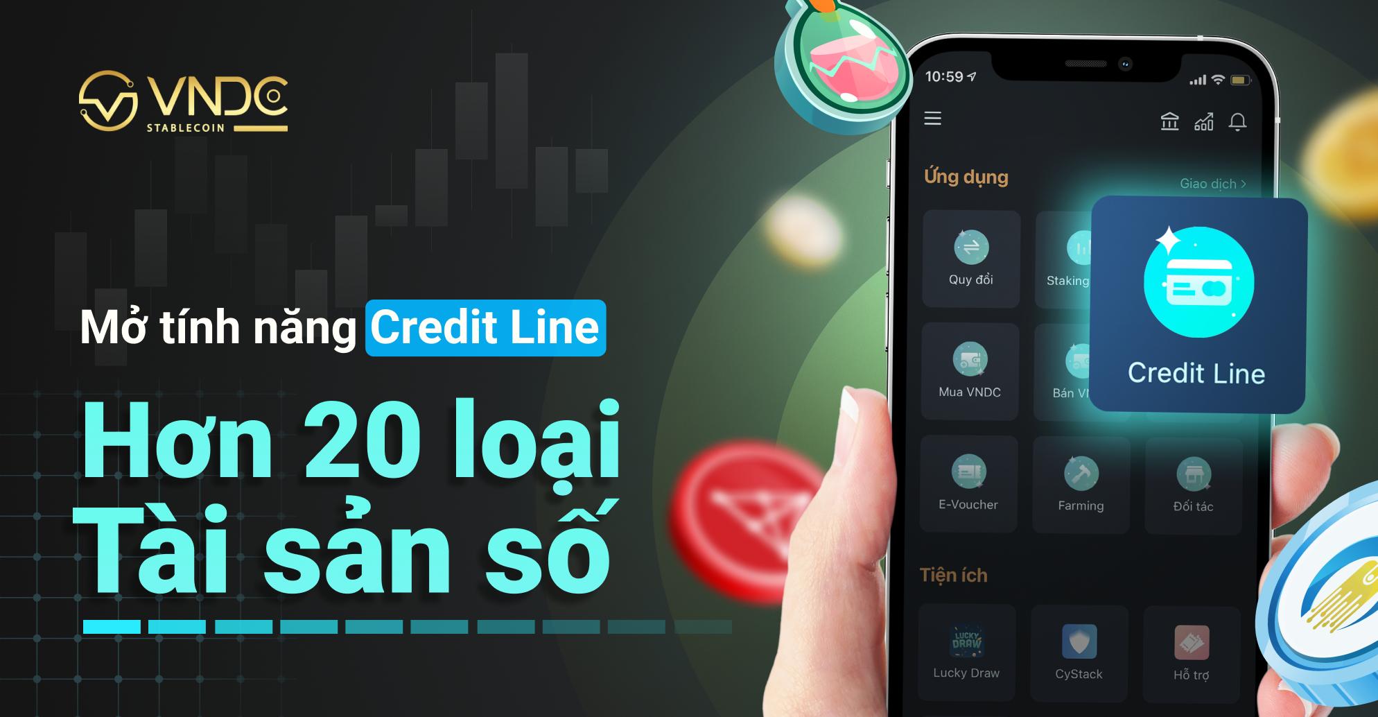 Mở tính năng Credit Line cho hơn 20 loại tài sản số