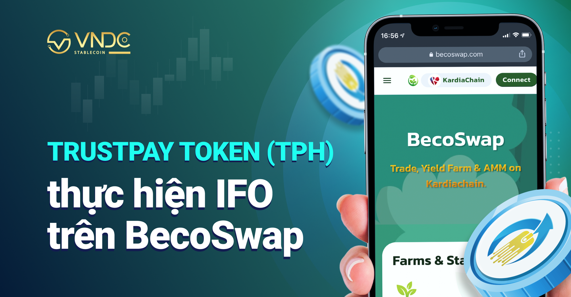 TRUSTpay token (TPH) thực hiện IFO trên BecoSwap