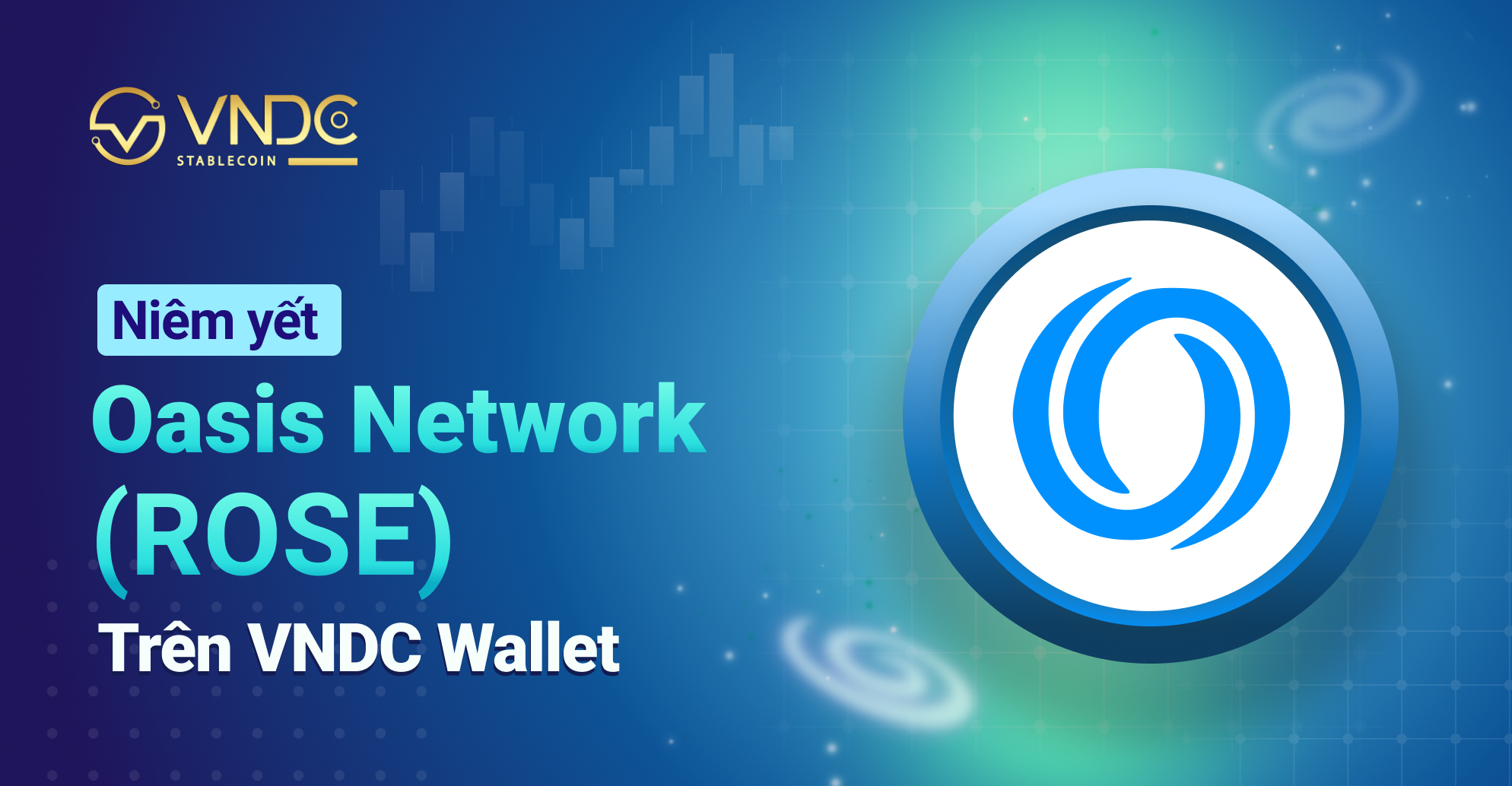 Niêm yết Oasis Network Token (ROSE) trên VNDC Wallet