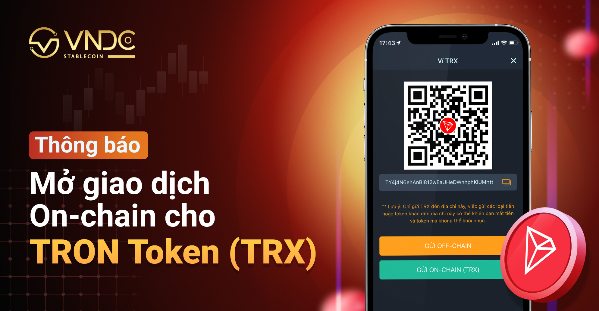 Mở giao dịch On-chain cho TRON Token (TRX)