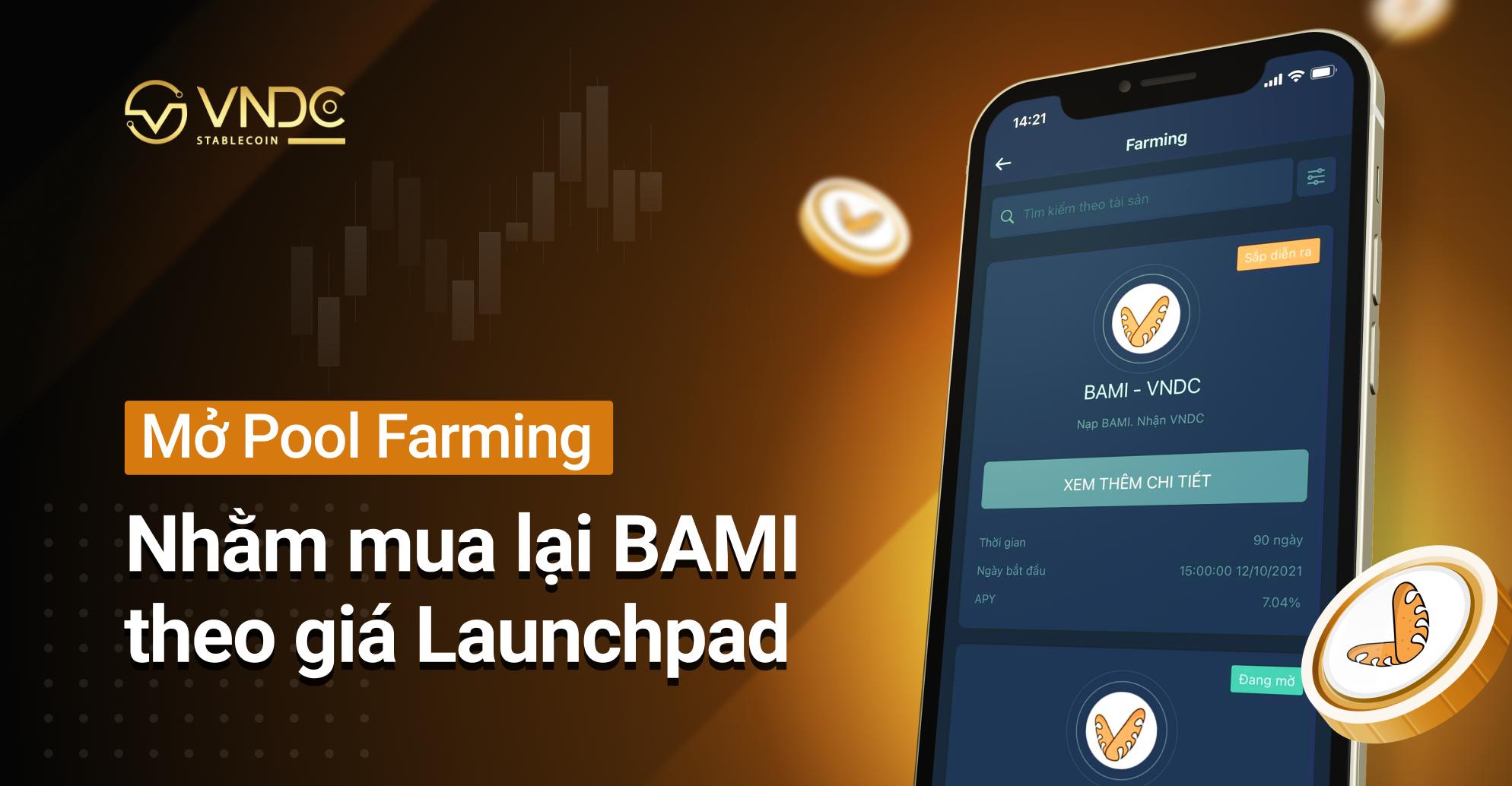 Mở Farming Pool nhằm mua lại BAMI theo giá Launchpad