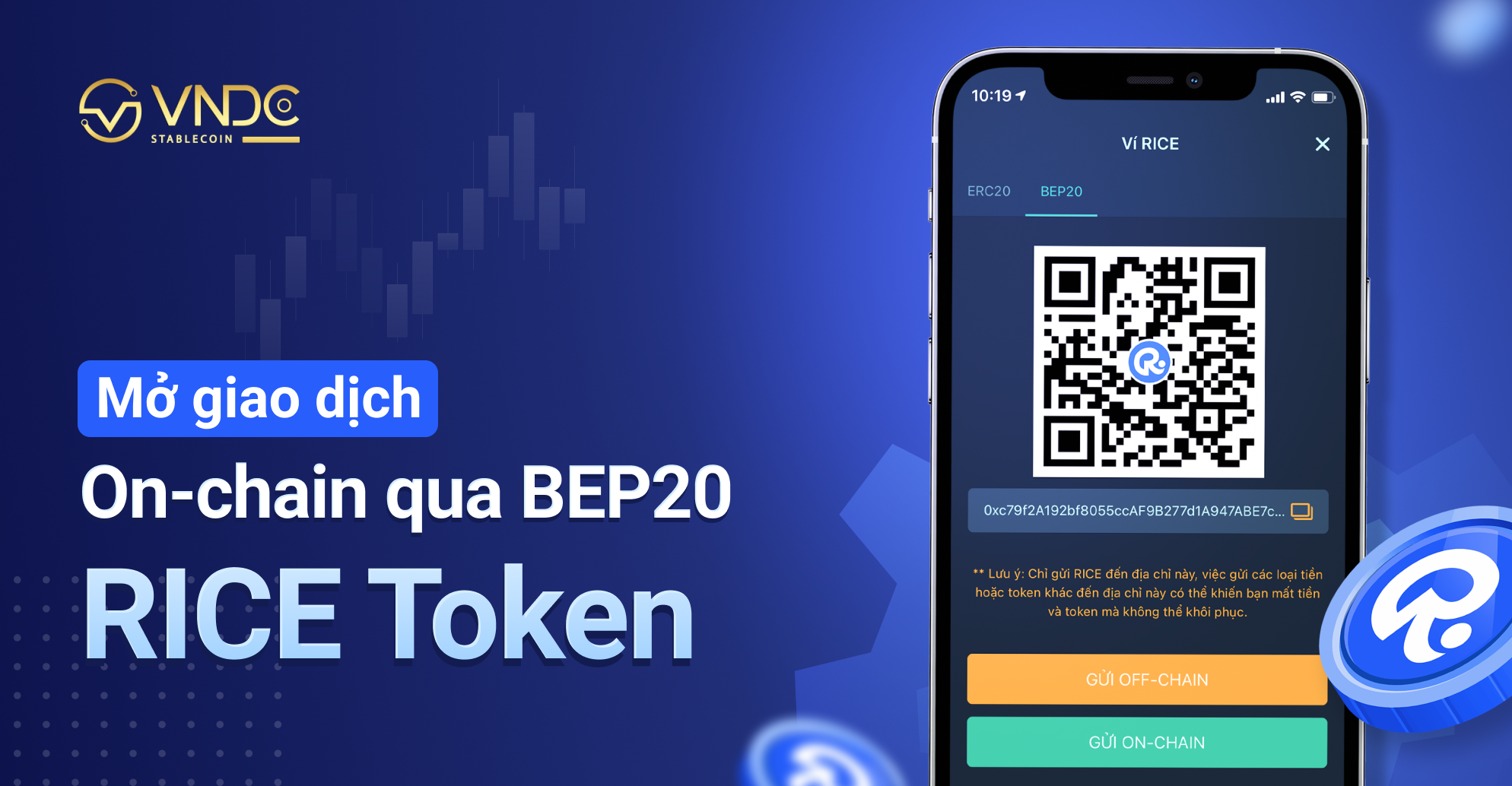 Mở giao dịch On-chain qua mạng BEP20 cho RICE token
